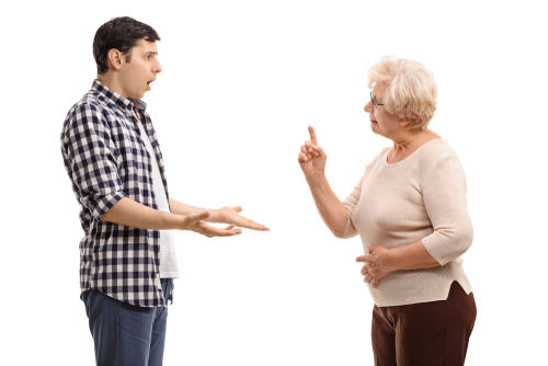 Resistance from aging parents as a caregiver